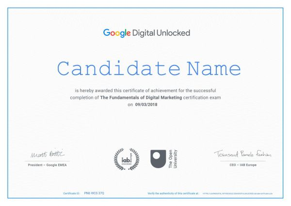 Google free Digital marketing Certification course in singapore