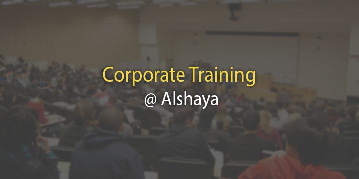 Corporate Training @ Alshaya
